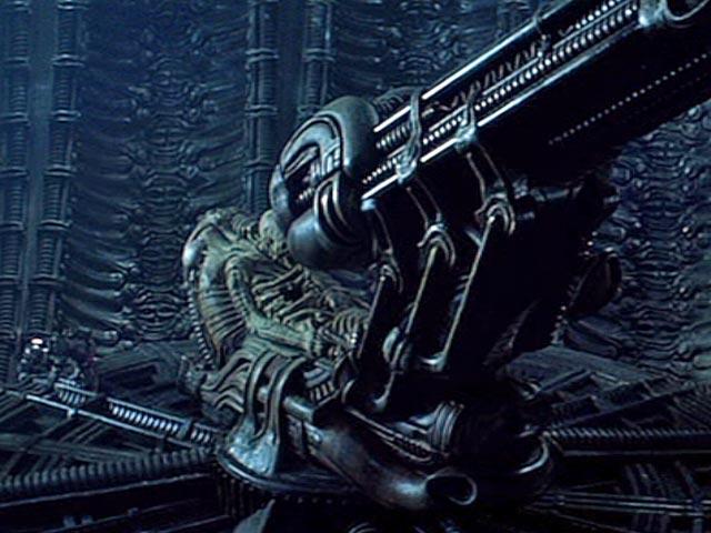 Relacion entre Biomecanoide y Xenomorfo Space-jockey-seat